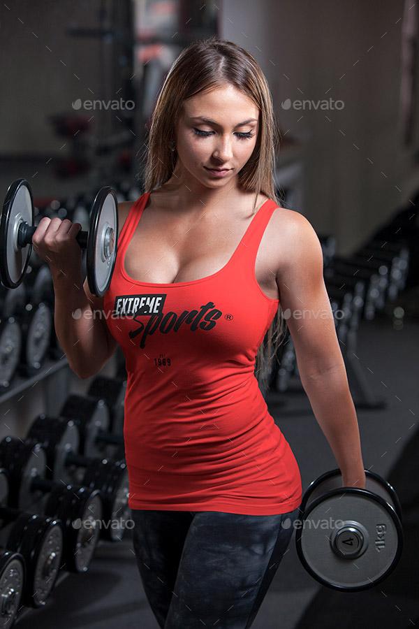 gym tank top mockup
