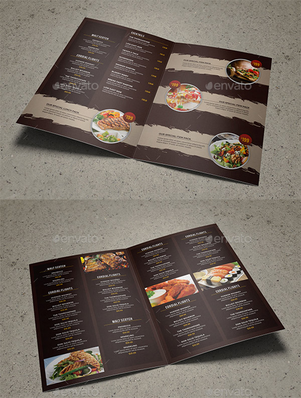booklet template food