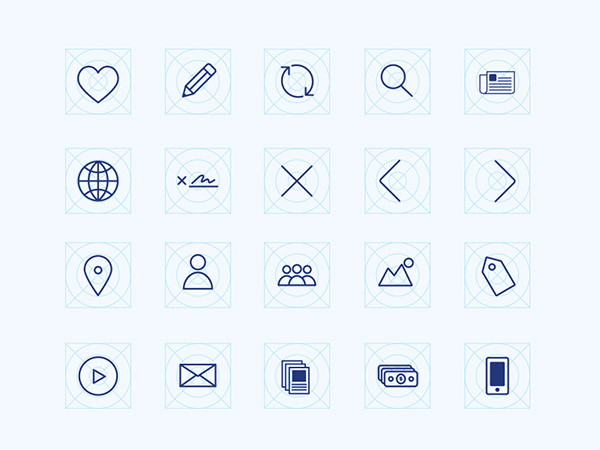 icons wireframe freebie
