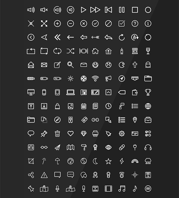clean icon designs