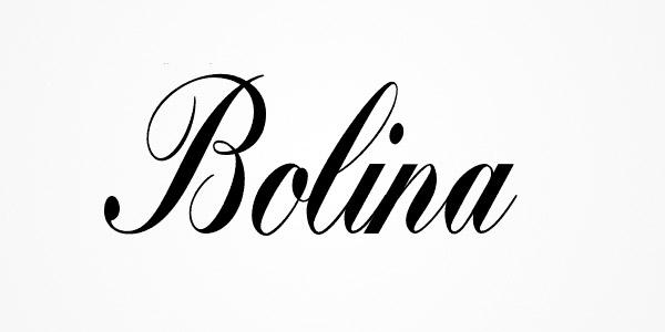 clean script typeface