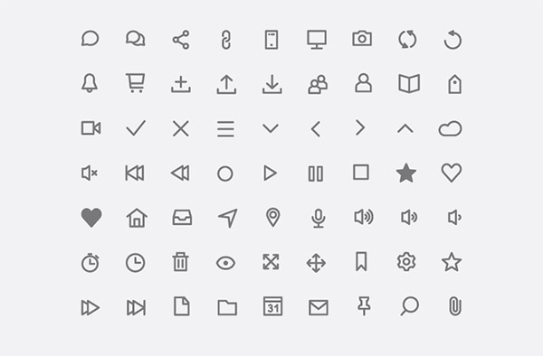 line icons font