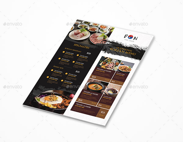 menu flyer template