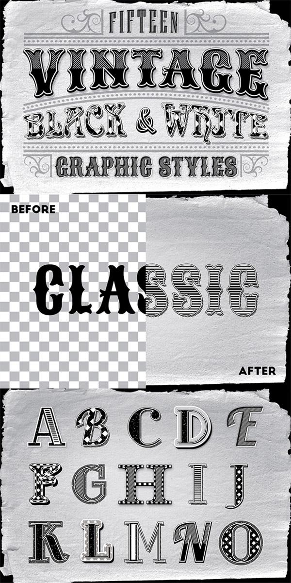 greyscale vintage styles
