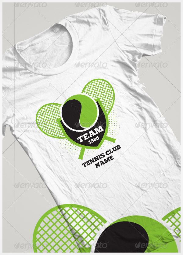 tennis tshirt template