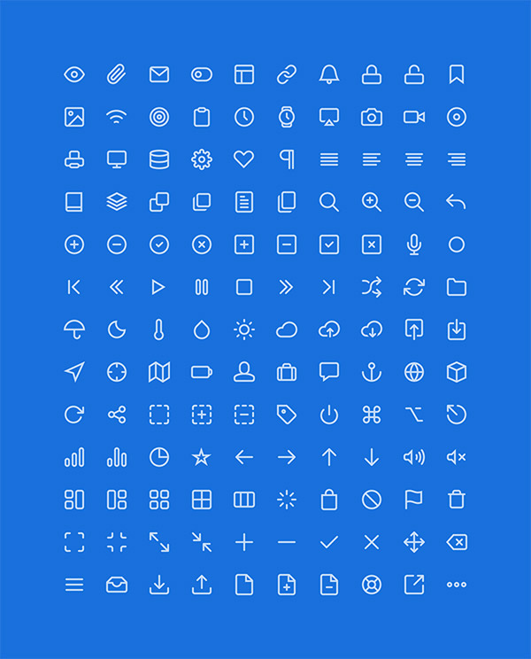 clean lined icons