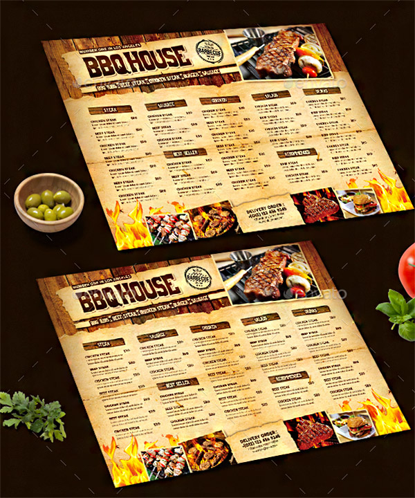 barbecue menu restaurant