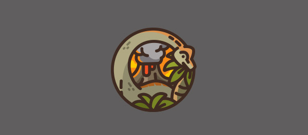 detailed dinosaur logo