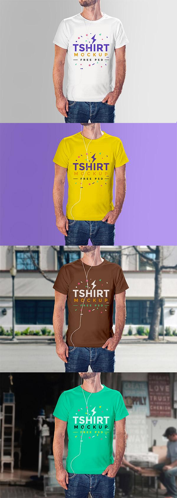 modern shirt psd