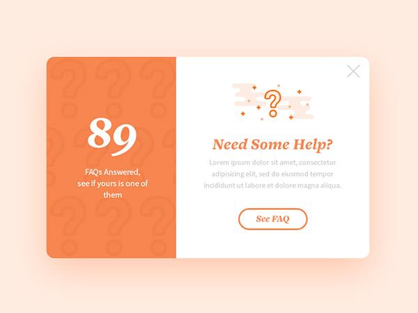 orange pop-up designs