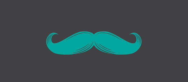stylish mustache design