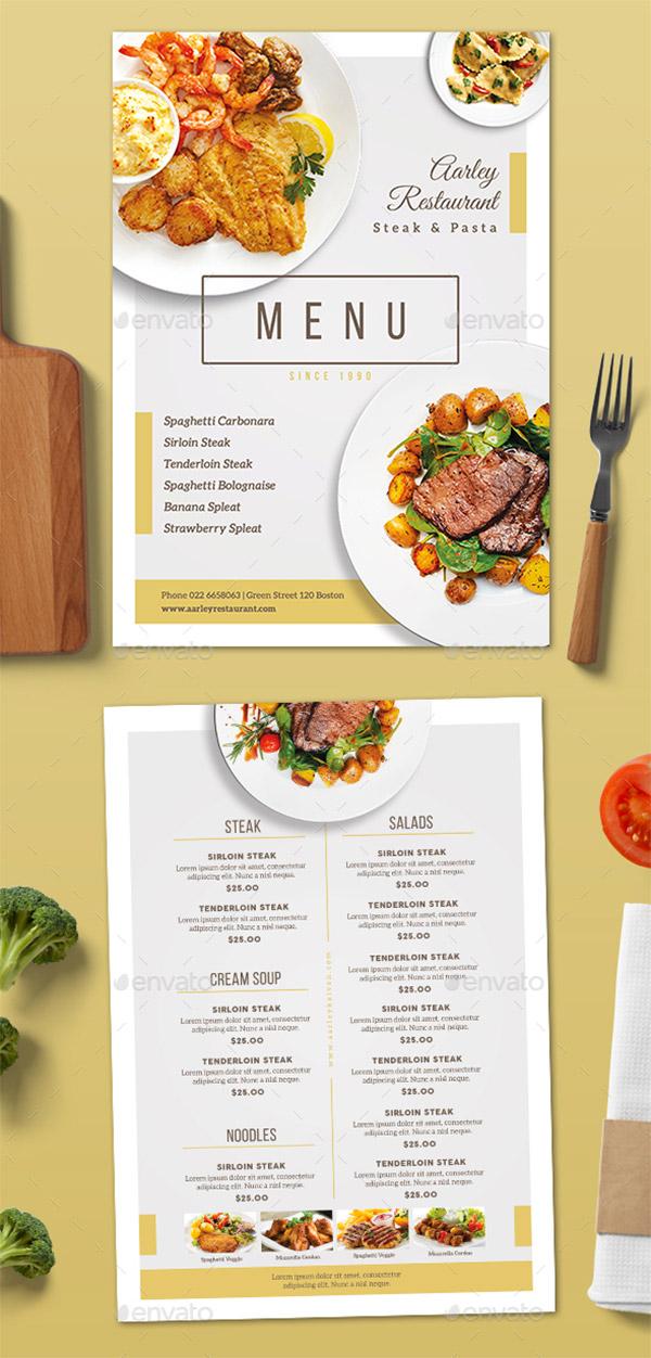 clean elegant menus