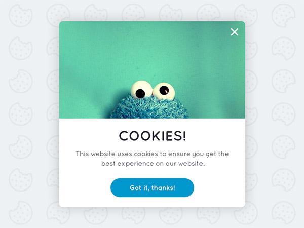 cookie permission popup
