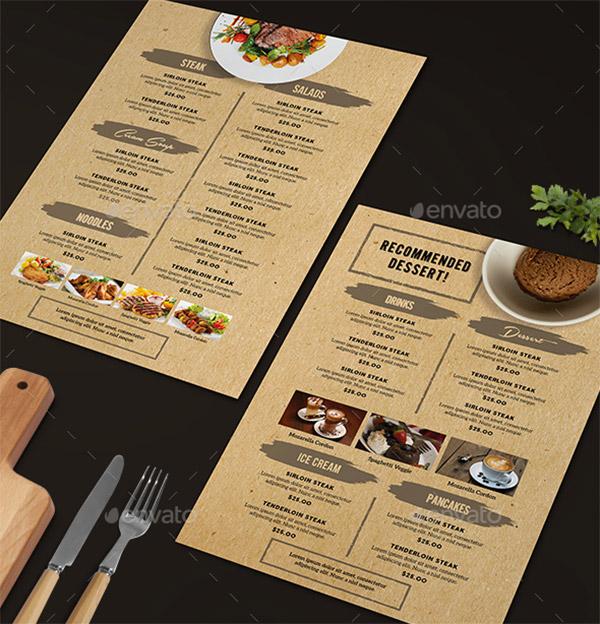 brown menu theme