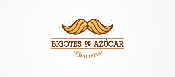 beautiful mustache logo