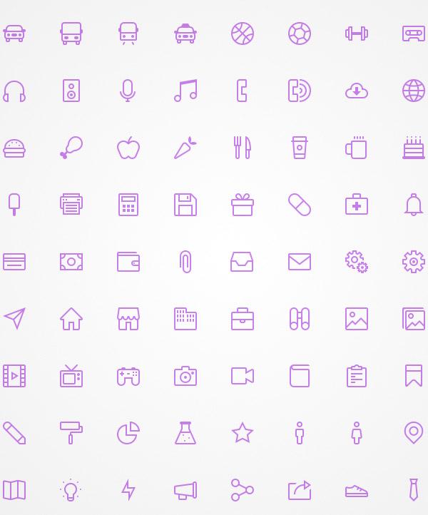 free line icons
