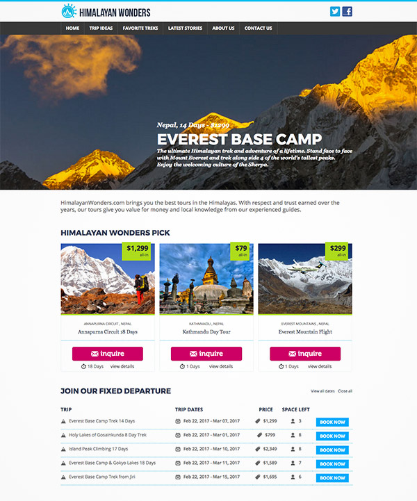 travel booking site
