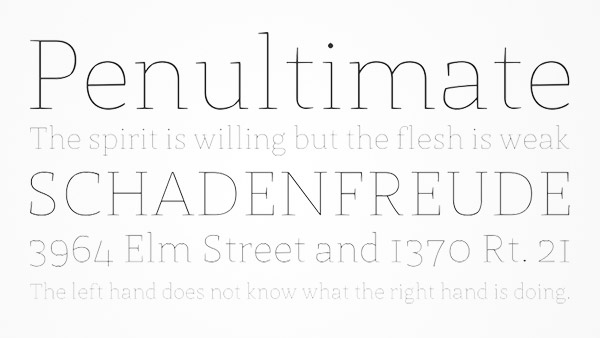 thin line fonts