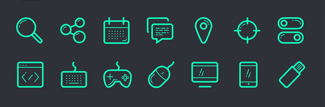 2000+ Beautiful Free Outline Icons for Graphic and Web Designers