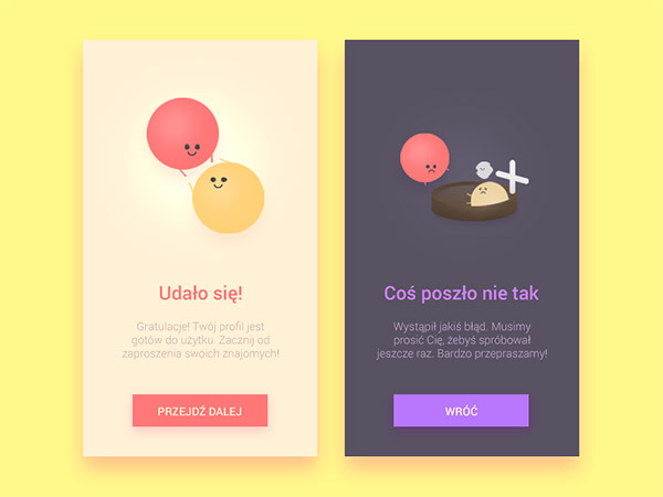 illustration ui messages