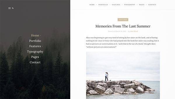 elegant personal blog