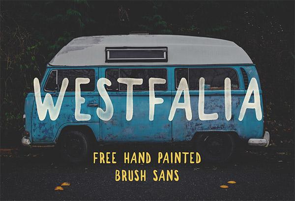 brush sans font