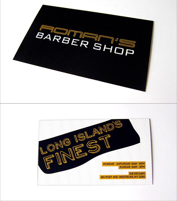 barber shop branding