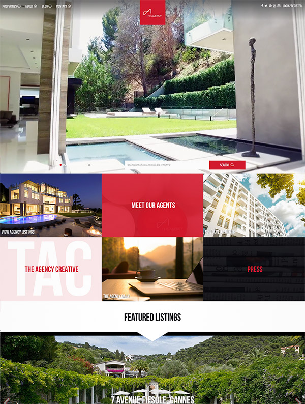 modern real estate website