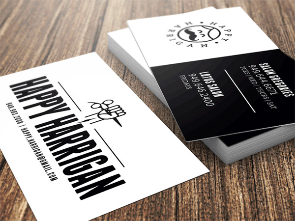 black white cards
