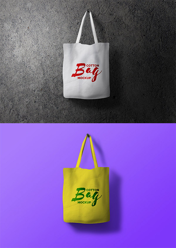 psd bag template