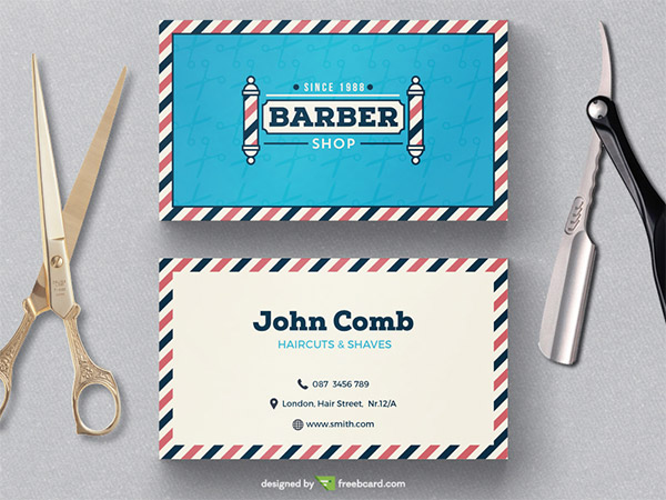 barbers business card