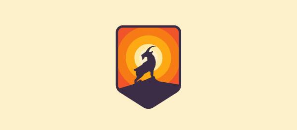 elegant goat logo