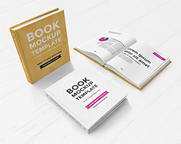 books mockup set