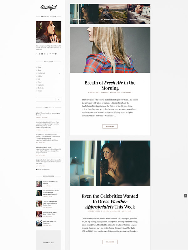 fashion portfolio theme