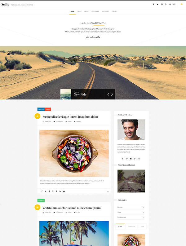 blogging theme site