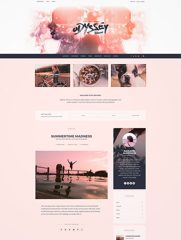 beautiful blogger design