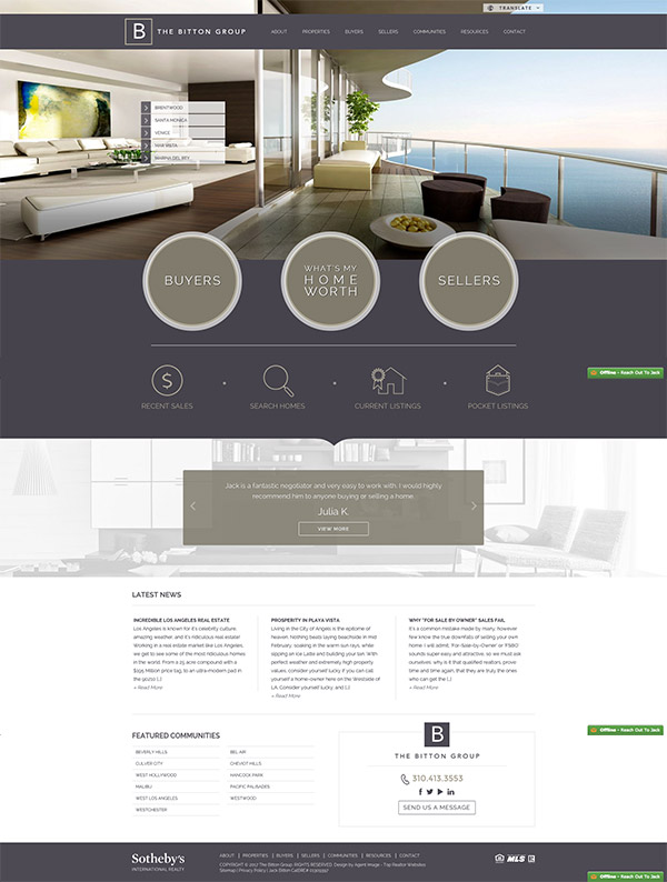 greige website design