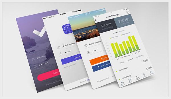 mobile apps mockups