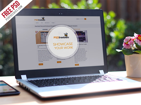 laptop psd template