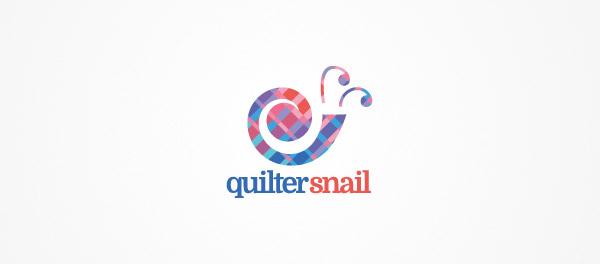 quilt logo snail