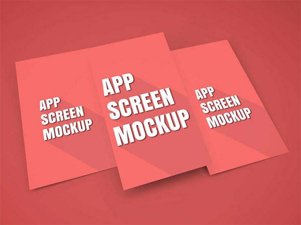 3 screen mockup