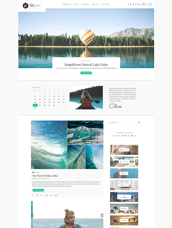 multilayout personal wordpress