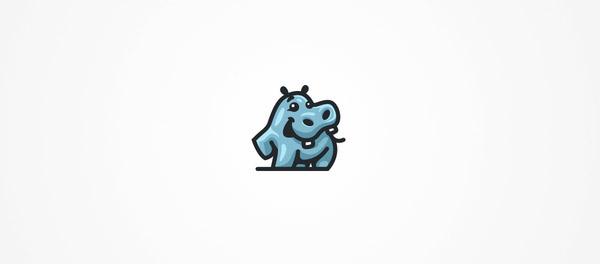 glossy style hippopotamus