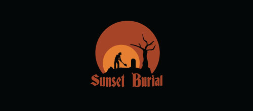 Sunset Burial logo