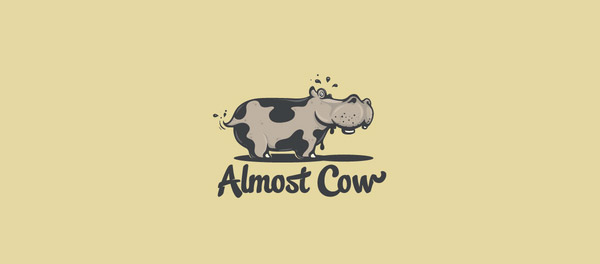 cow logo design