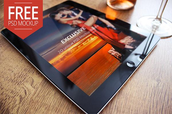 free tablet mockup