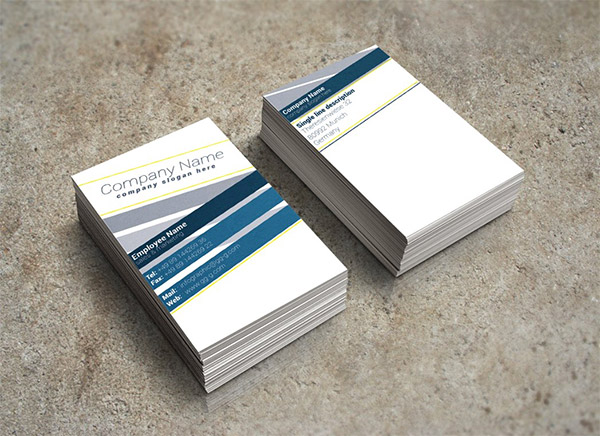 diagonal stripe business card