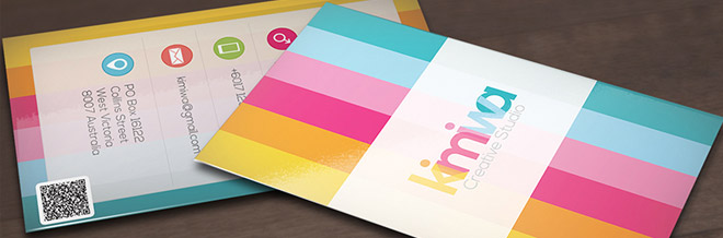 20+ Striped Business Card Designs To Check Out