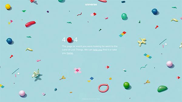 universe error page