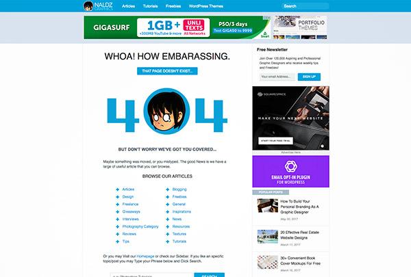 NG error 404